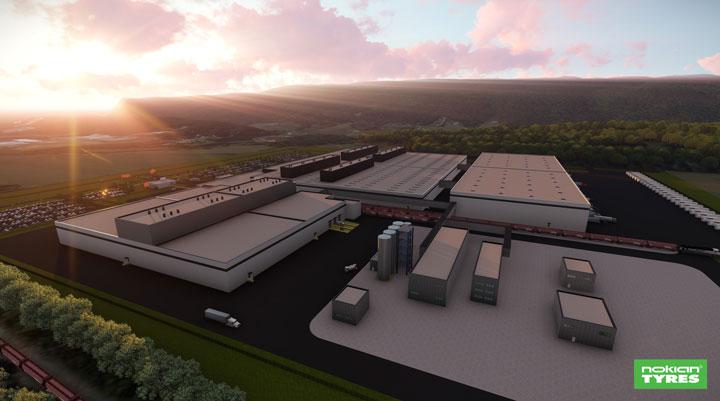 Nokian Renkaat rakentaa uuden tehtaan Yhdysvaltoihin