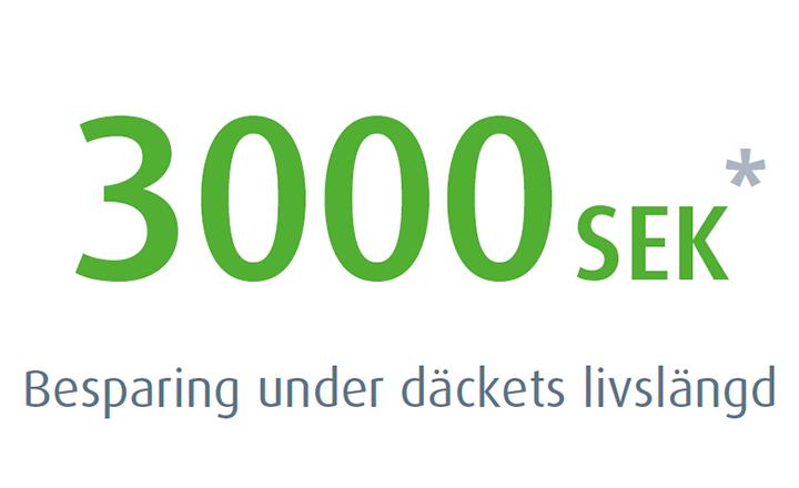 Nokian Hakkapeliitta 8 - besparing under däckets livslängd