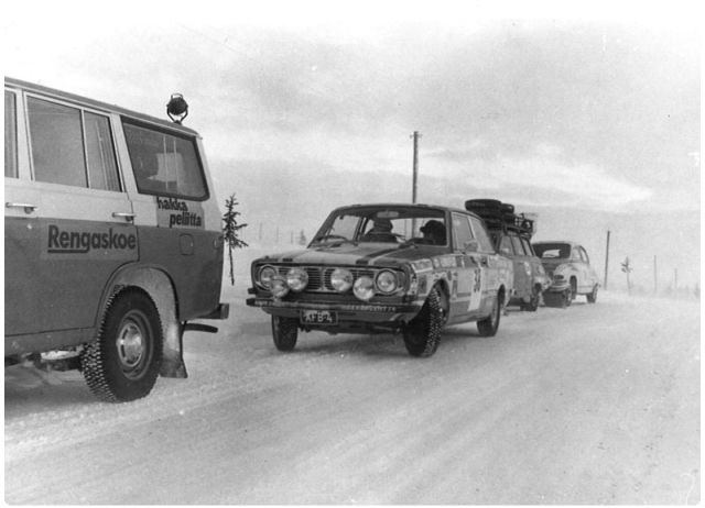 Winter testing on the northern snow. Before a test centre was established, suitable conditions had to be found again, year after year.