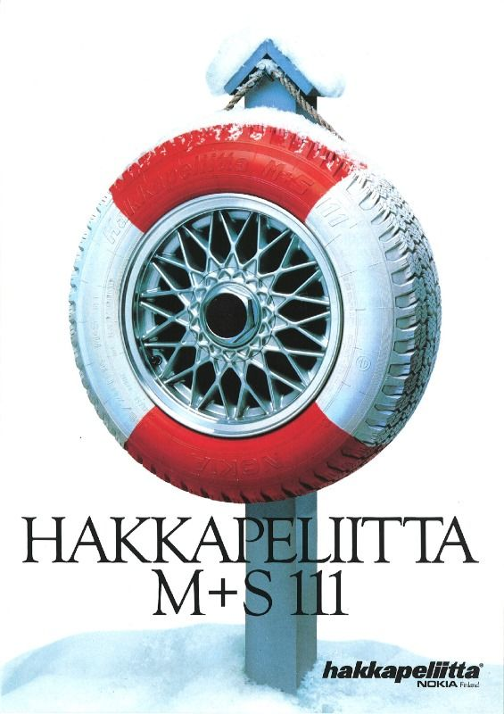 Introduced in 1984, the Hakkapeliitta M+S 111 was specially developed for urban driving.