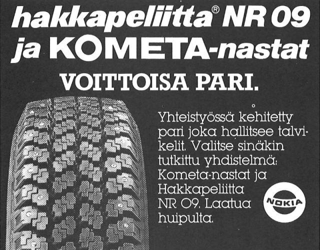 Шины Hakkapeliitta 09 и шипы Kometa были залогом победы в 1980-х.