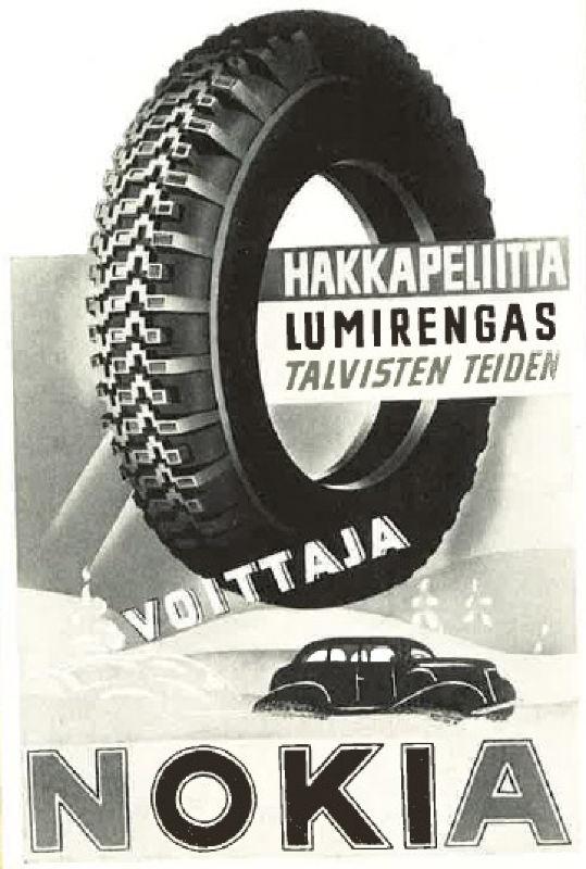 Print ad. Hakkapeliitta Lumirengas 1937.