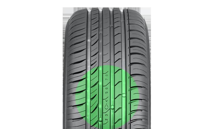Nokian iLine. Driving safety and aquaplaning indicator.