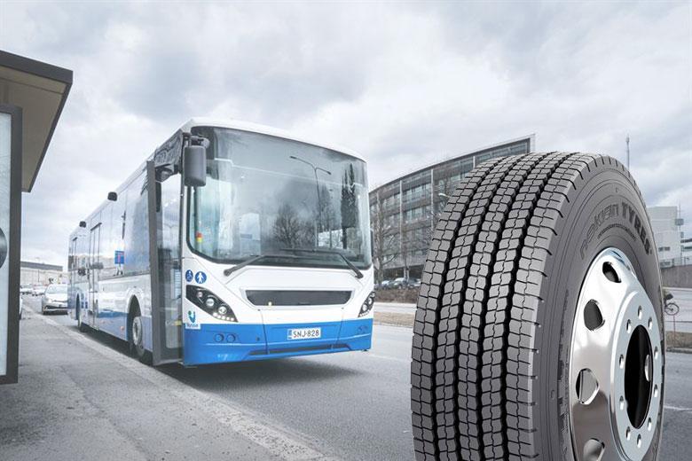 Slitstyrka och grepp året runt – Nokian Tyres lanserar ett nytt vinterdäck för citybussar
